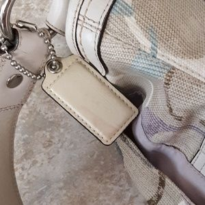 Coach Bags - Coach Signature Soho Optic Linen & Leather Satchel